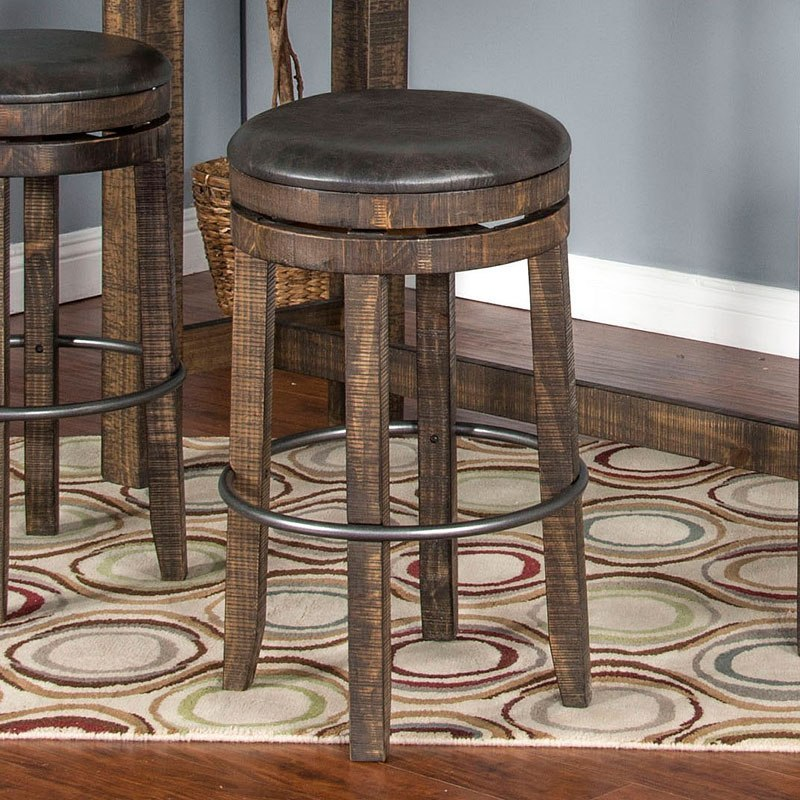 Serene And Practical 40 Asian Style Dining Rooms: Metroflex Vintage Round Counter Dining Set W/ Backless
