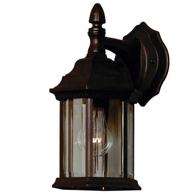 Custom Fit 1 Light Wall Lantern (Black)