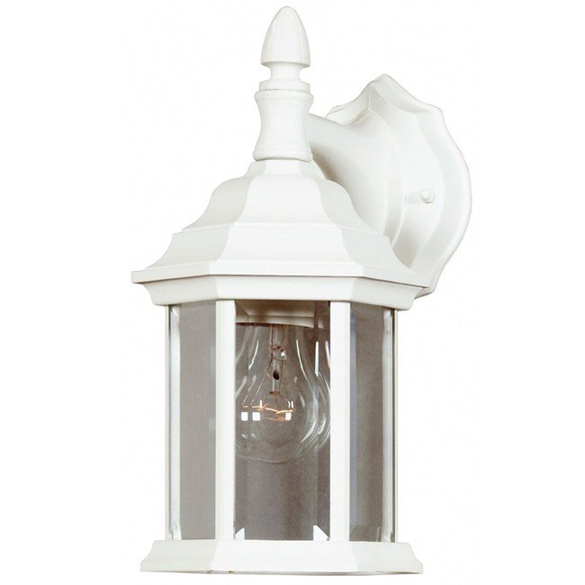Custom Fit 1 Light Wall Lantern (White)