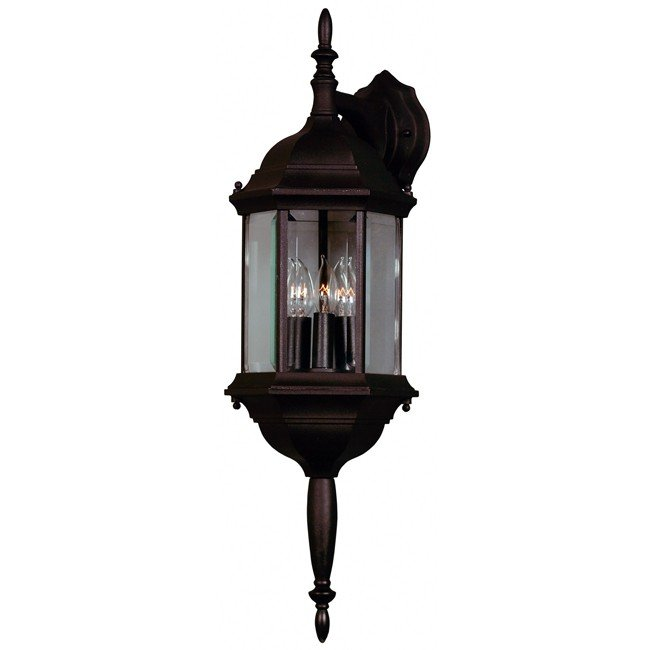 Custom Fit 3 Light Wall Lantern (Black)