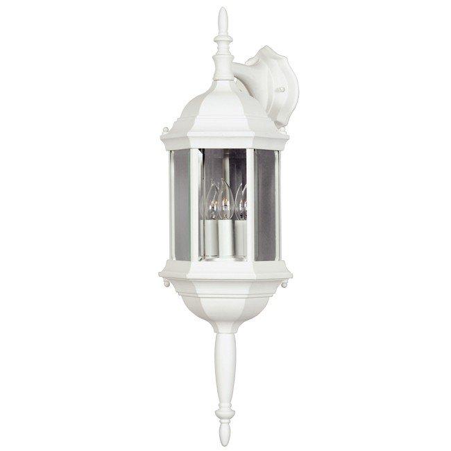 Custom Fit 3 Light Wall  Lantern (White)