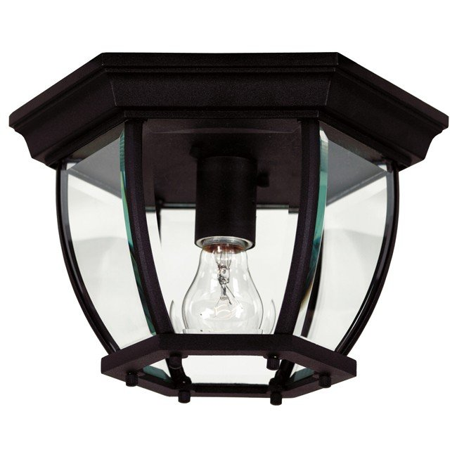 Dural 1 Light Flush Mount (Black)