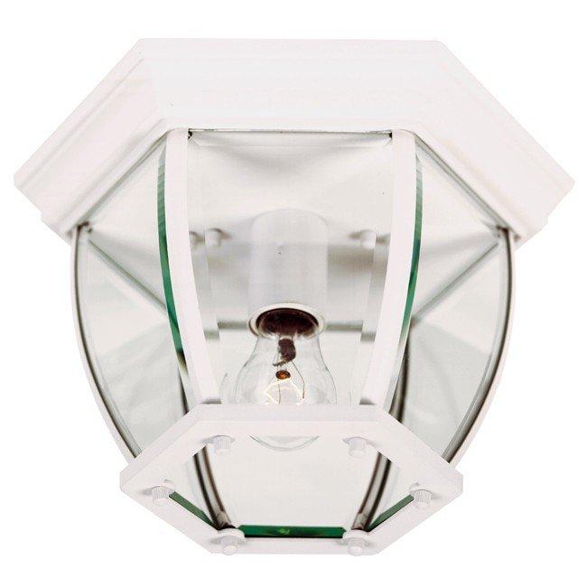 Dural 1 Light Flush Mount (White)