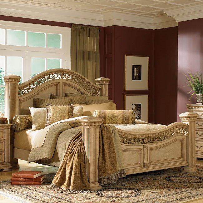 Cordoba Poster Bed Antiguo Blanco California King Wynwood Furniture Cart