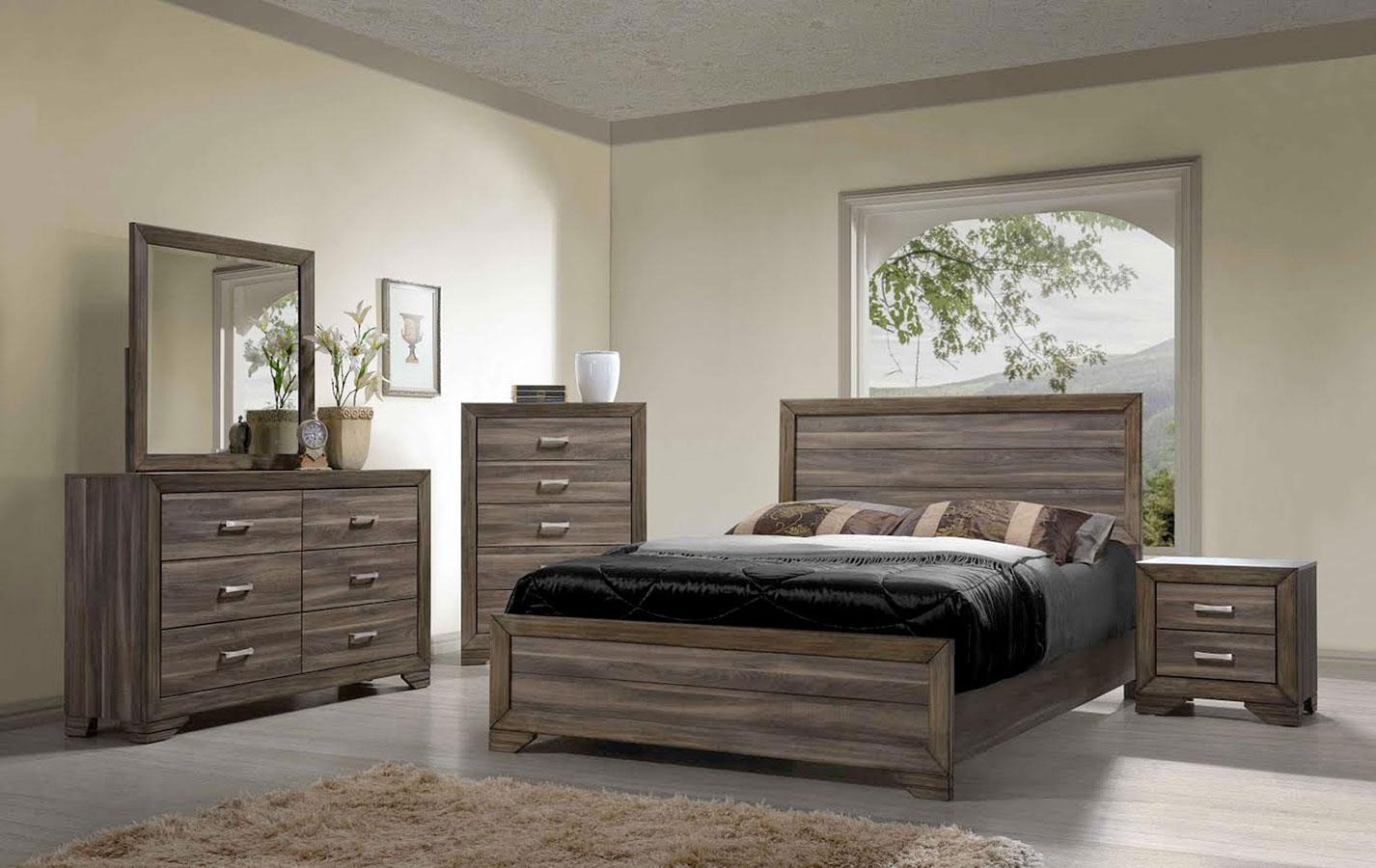 asheville panel bedroom set driftwood bernards