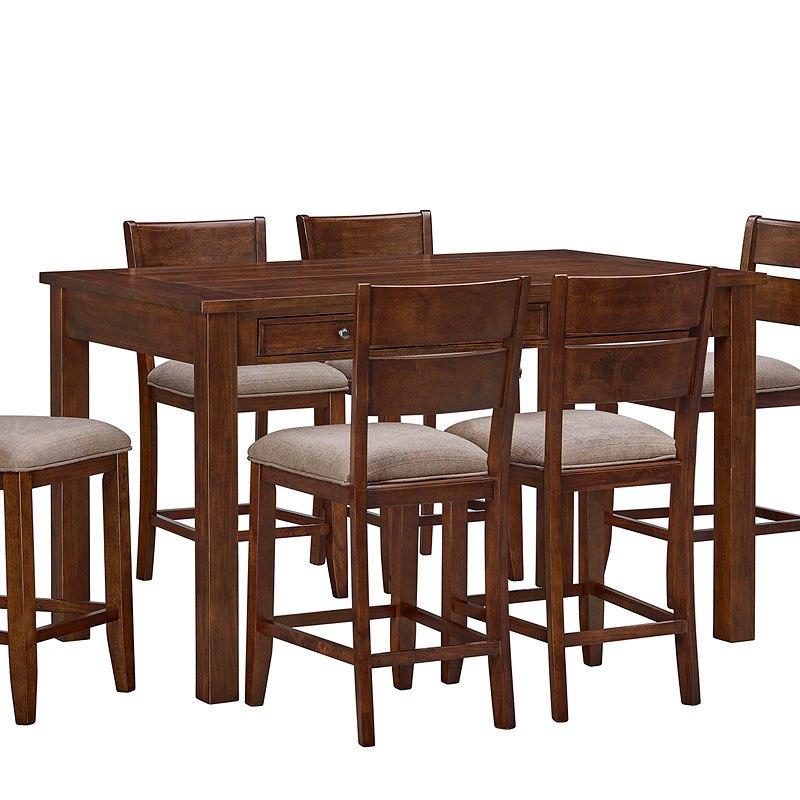 Standard Furniture Brooklyn 5 Piece Counter Height Dining: Kyle Dark Counter Height Dining Set W/ Bench Standard