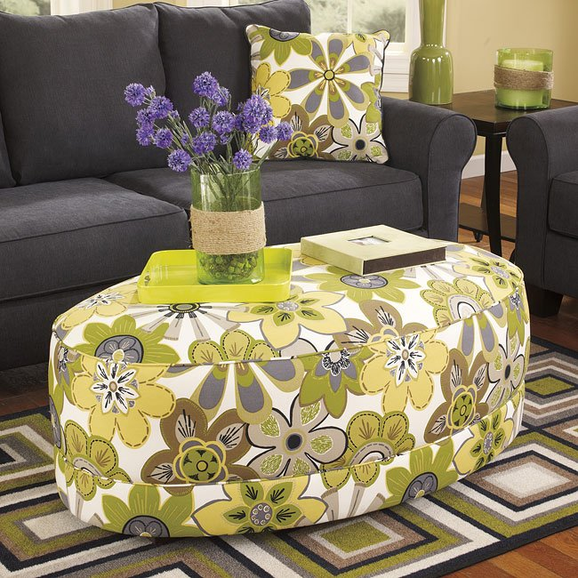 Nolana Accents Citron Oversized Ottoman By BenchCraft