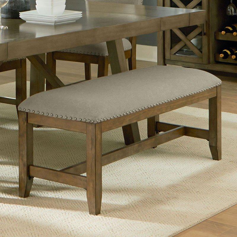 Outdoor Patio Furniture Omaha Ne: Omaha Upholstered Bench (Grey) Standard Furniture