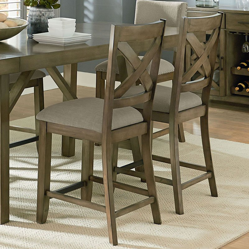 Ashley Furniture Omaha Ne: Omaha Counter Height Dining Set W/ Chair Choices (Grey