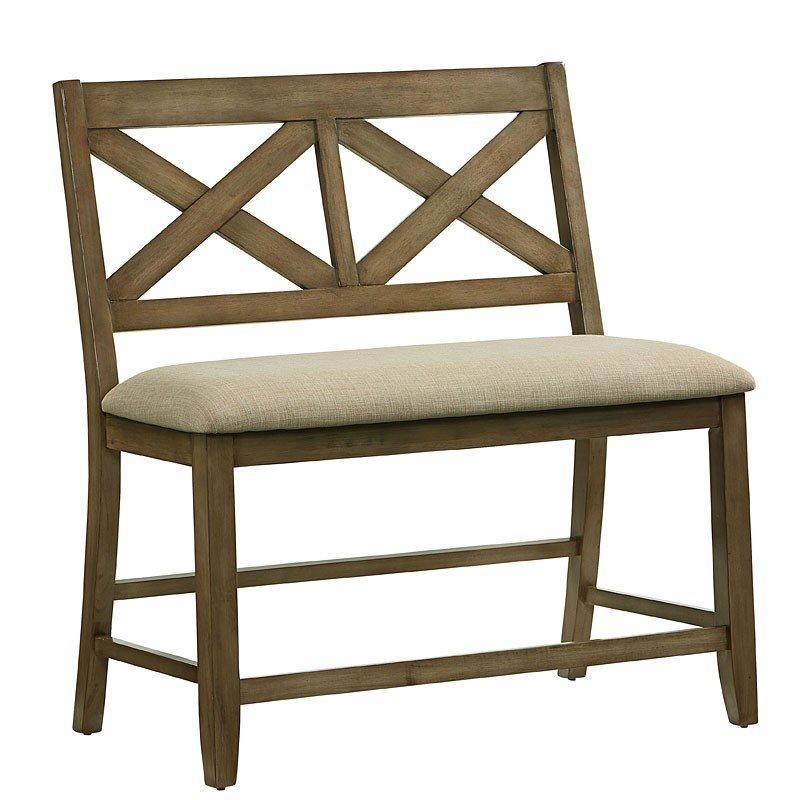 Ashley Furniture Omaha Ne: Omaha X-Back Counter Height Bench (Grey) Standard