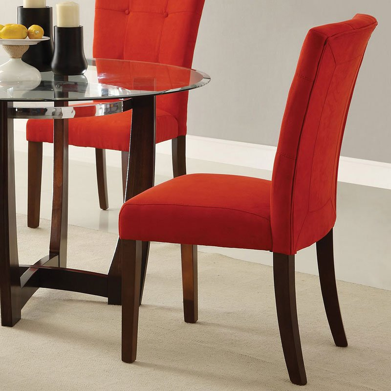 Red Dining Room Furniture: Baldwin Dining Room Set W/ Red Chairs Acme Furniture