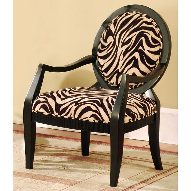 Animal Print Accent Chair World Imports Furniture Cart
