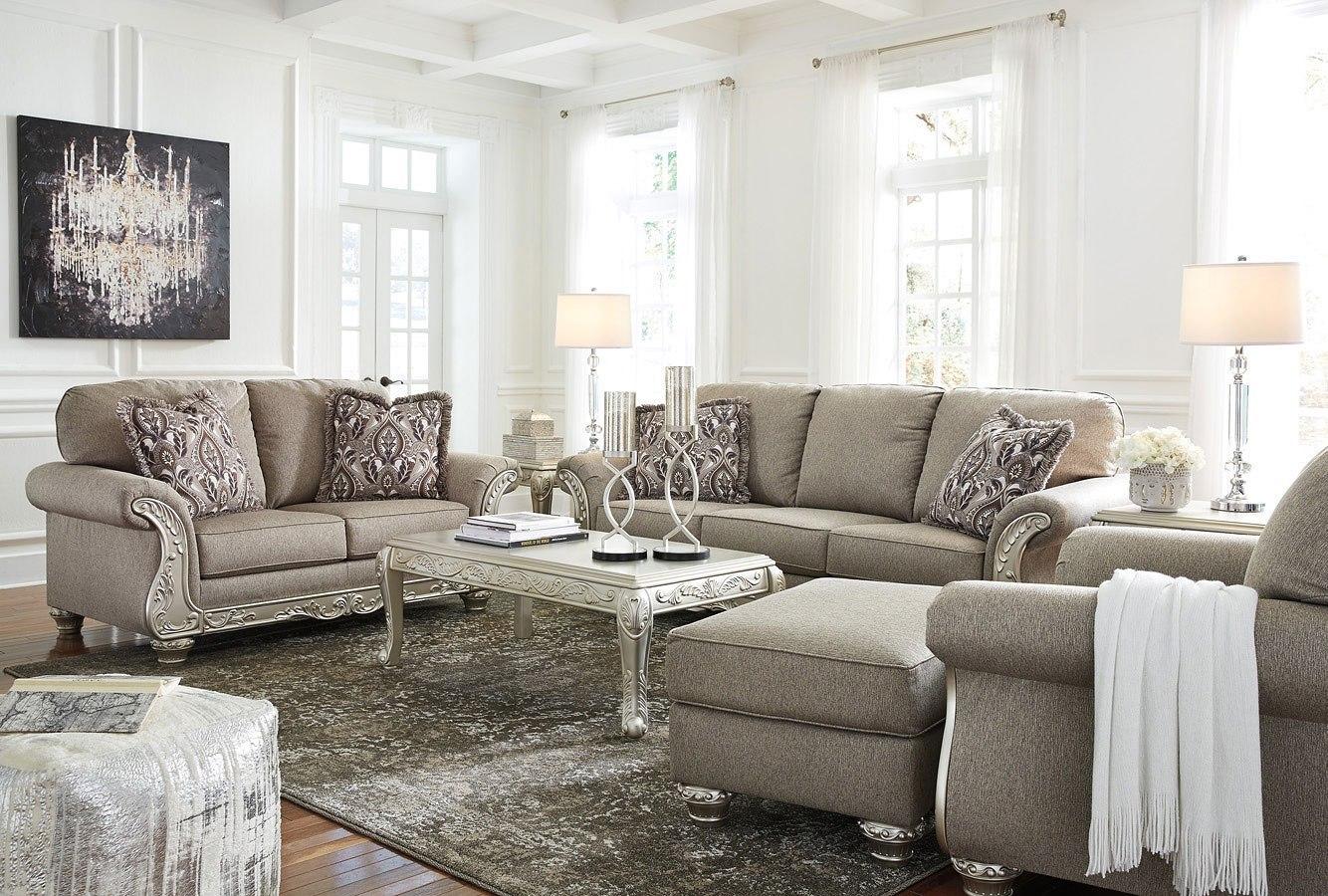 Gailian Smoke Living Room Set Signature Design   Furniture Cart