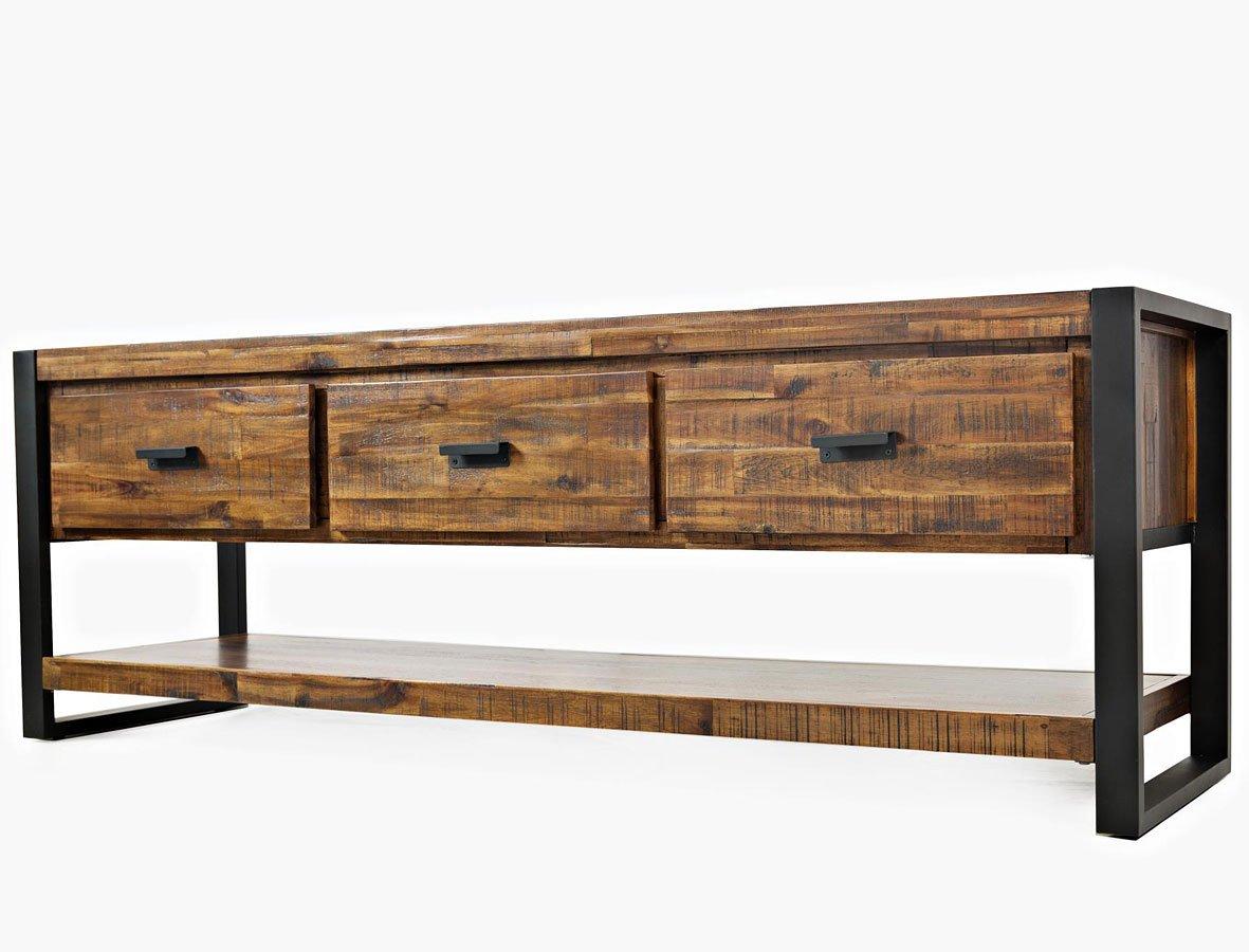 loftworks 70 inch media console jofran furniture furniture cart. Black Bedroom Furniture Sets. Home Design Ideas