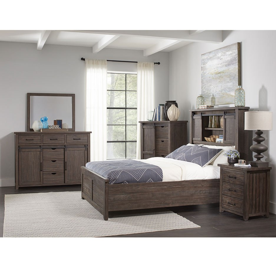 Madison County Barn Door Bedroom Set Barnwood Jofran