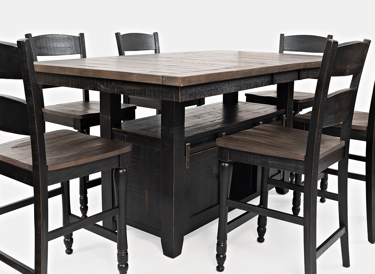 Madison county adjustable height dining table vintage black