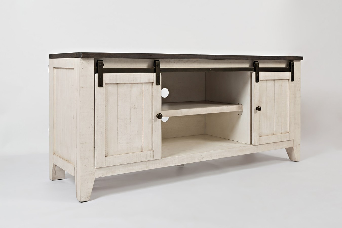 Madison Country 60 Inch Barn Door Media Console Vintage