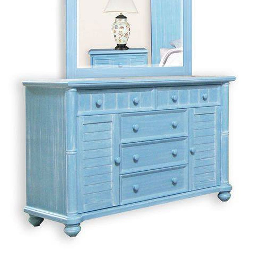 Ocean Blue Bedroom Wall: Beachfront Plantation Bedroom Set (Ocean Blue) Cottage