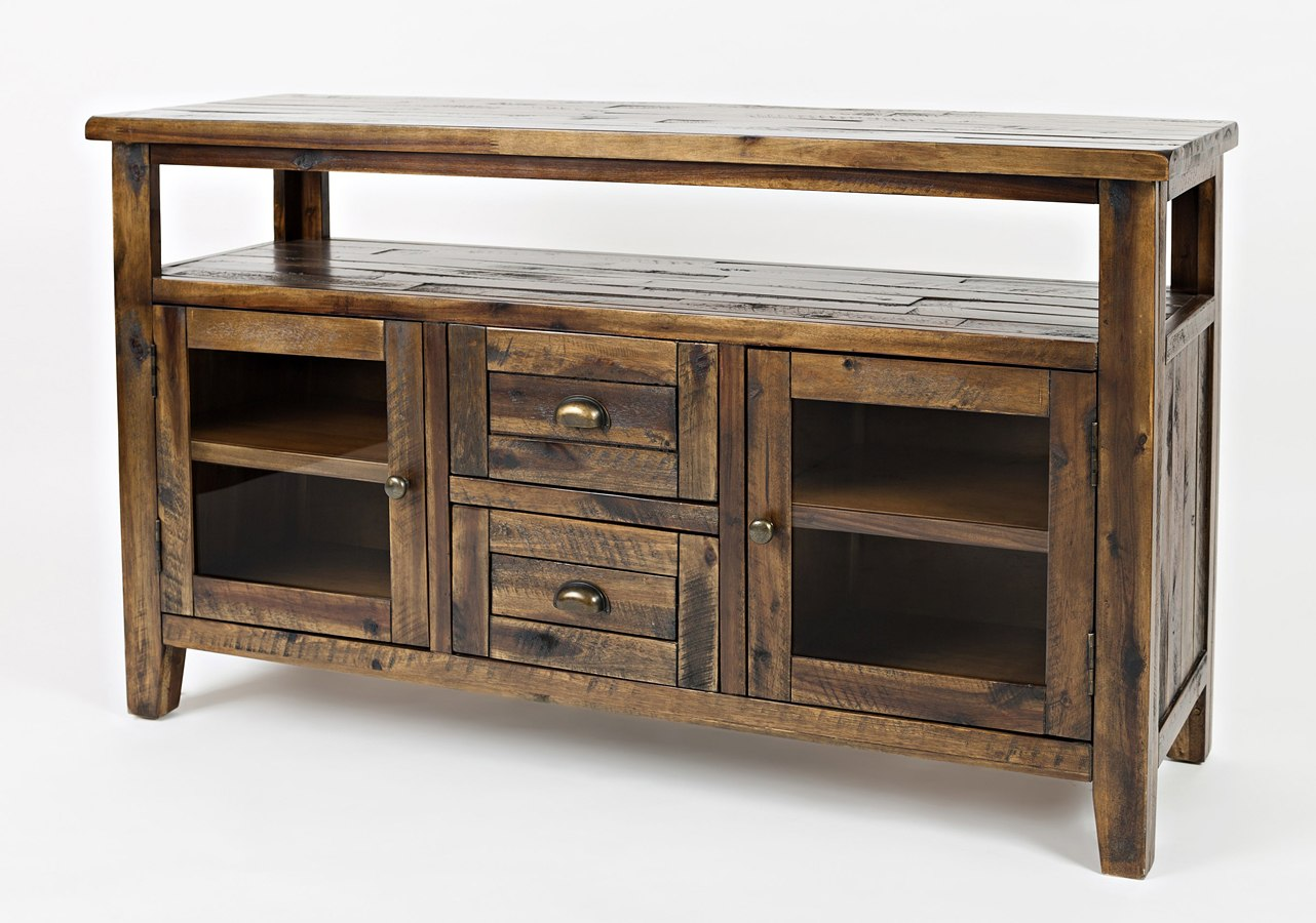 Artisans Craft Storage Console Dakota Oak Jofran Furniture