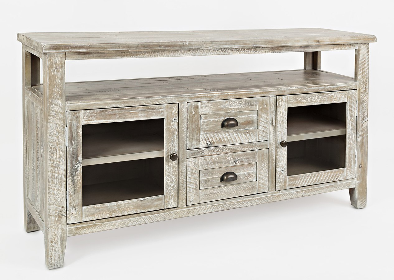 Artisans Craft Storage Console Washed Grey Jofran Furniture