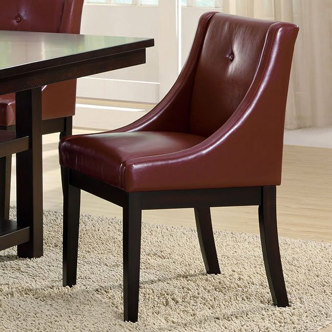 174 Series Burgundy Side Chair (Set Of 2) By Monarch Specialties