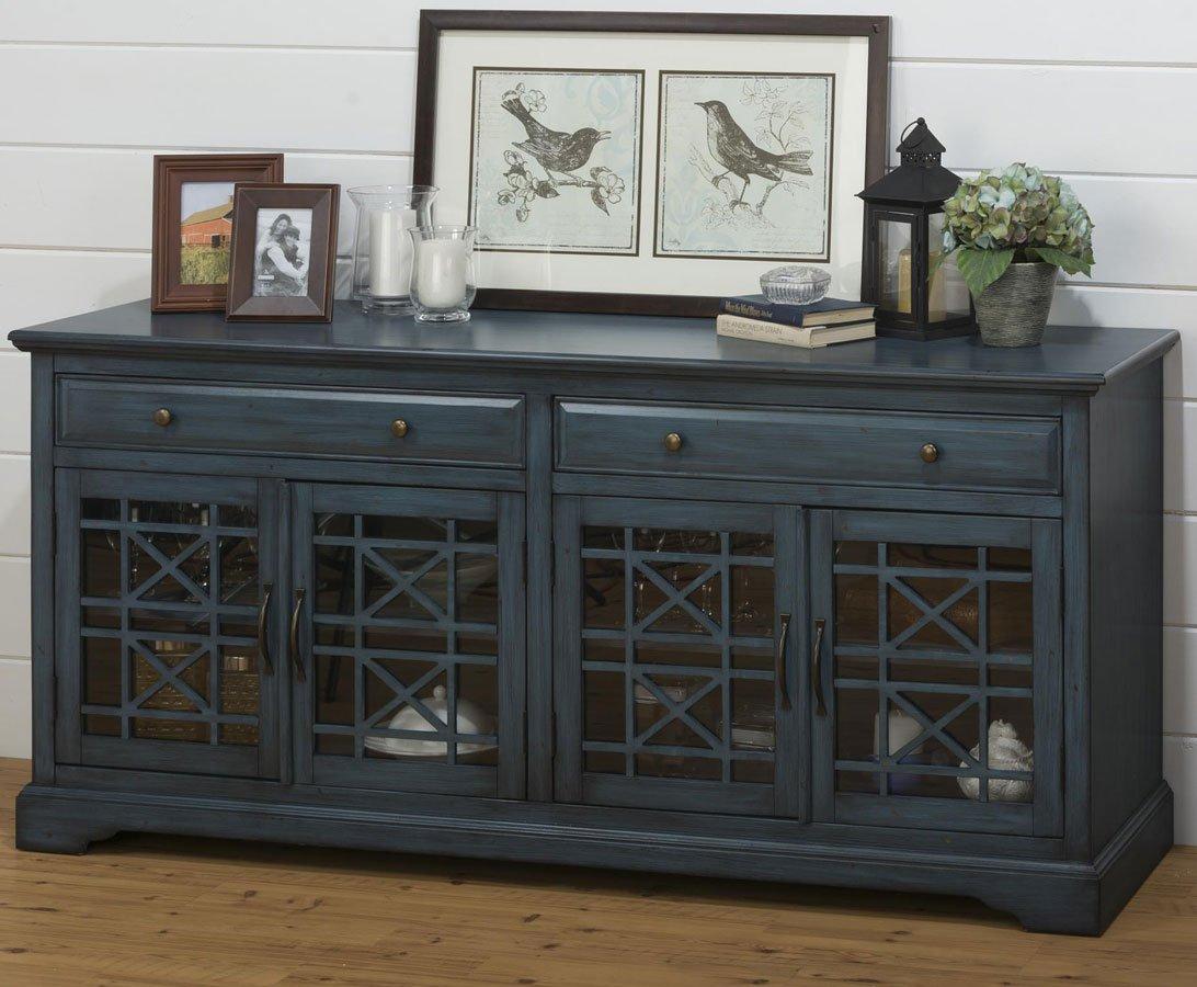 Craftsman 70 Inch Media Unit (Antique Blue)