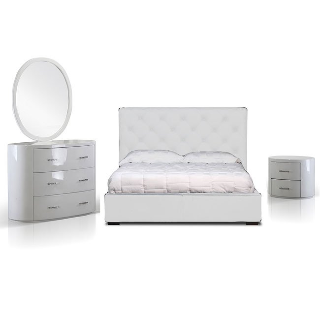 Zoe Storage Bedroom Set (White)