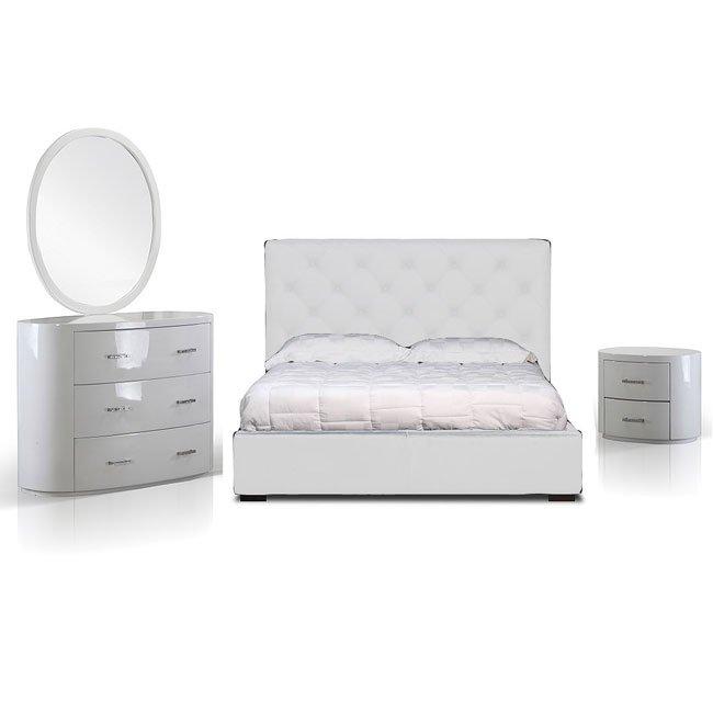 Zoe Youth Bedroom Set (White)