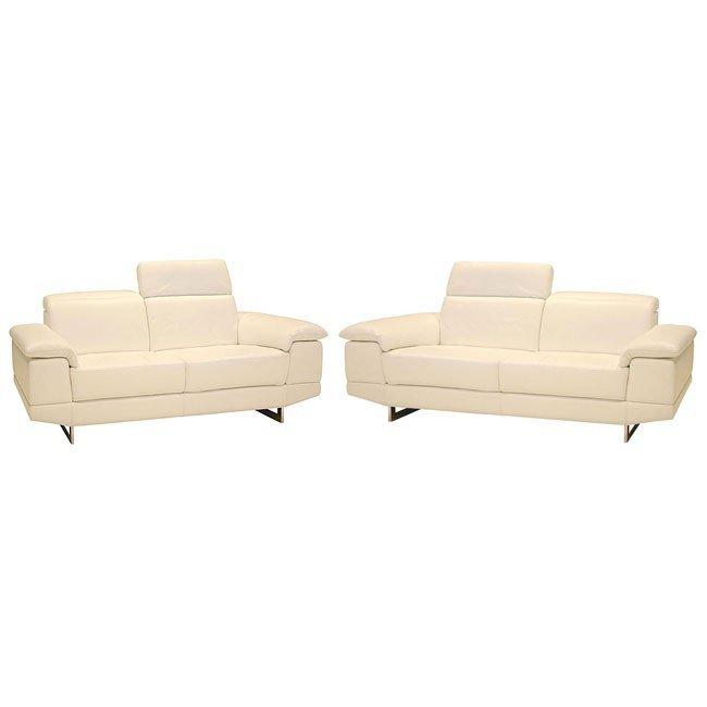 2071 Italian Leather Living Room Set