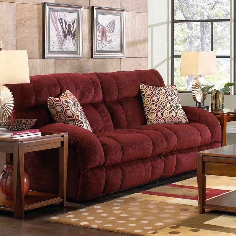 Delicieux Siesta Lay Flat Reclining Sofa (Wine)