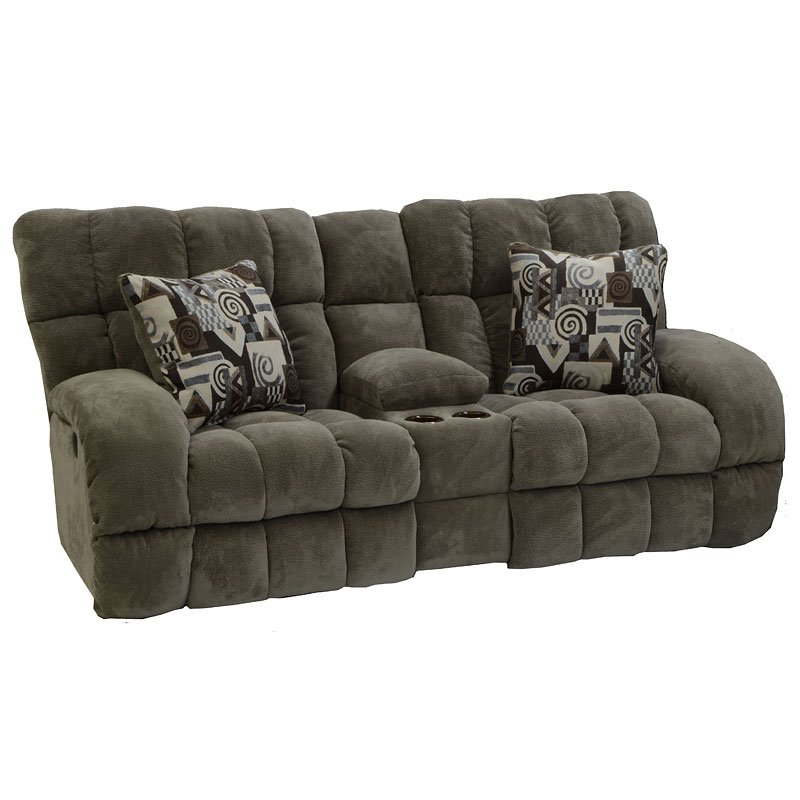 Siesta Lay Flat Reclining Console Loveseat (Porcini)