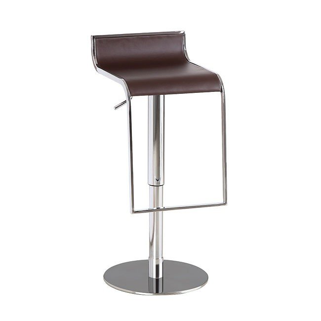 C027B-3 Leather Barstool (Brown)