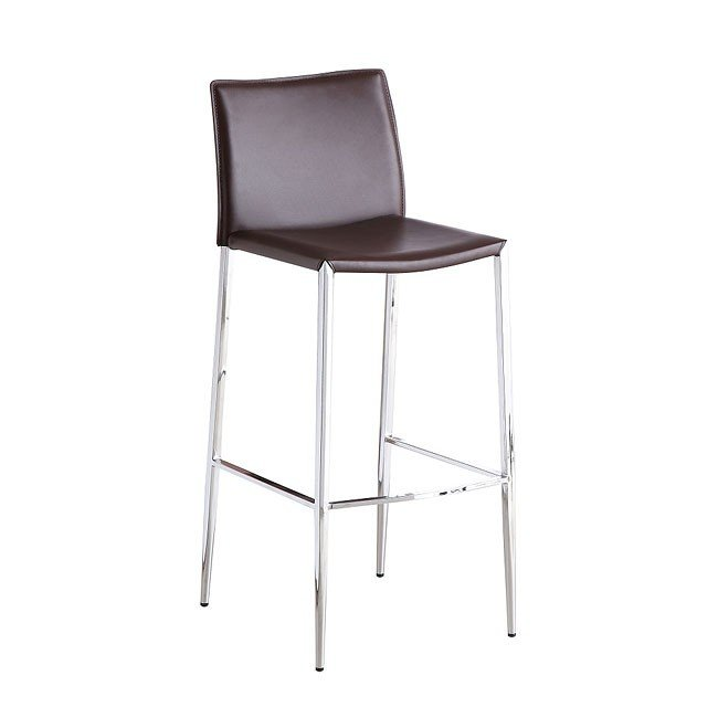 C065-3 Fixed Barstool (Brown) (Set of 2)