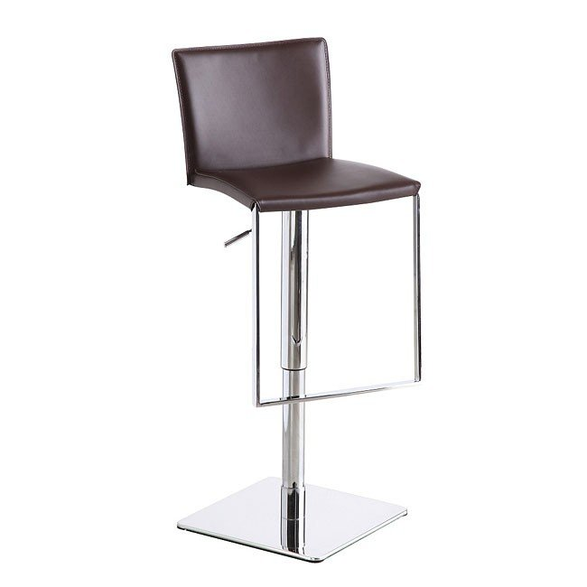 C183B-3 Leather Barstool (Brown)