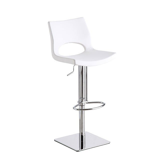 C203-3 Swivel Barstool (White)