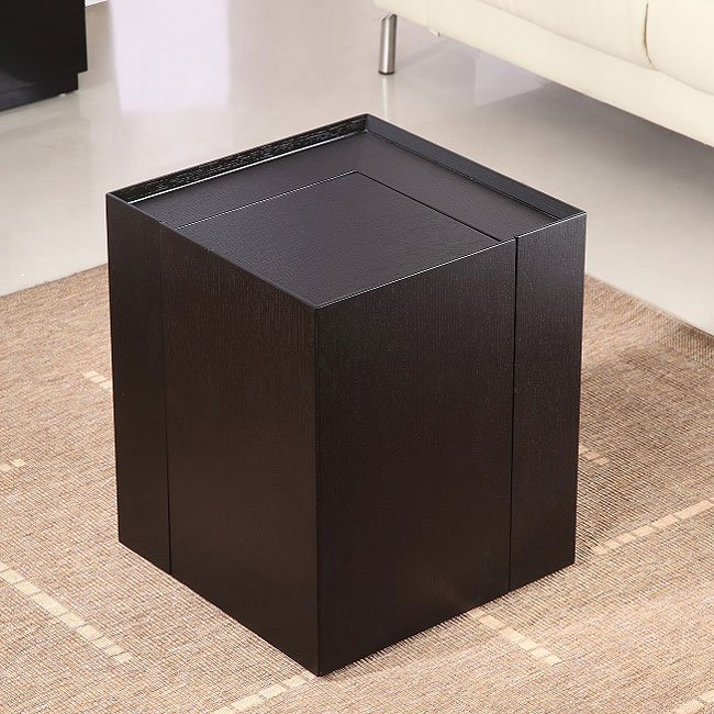 P205B End Table w/ Mini Bar (Dark Oak)