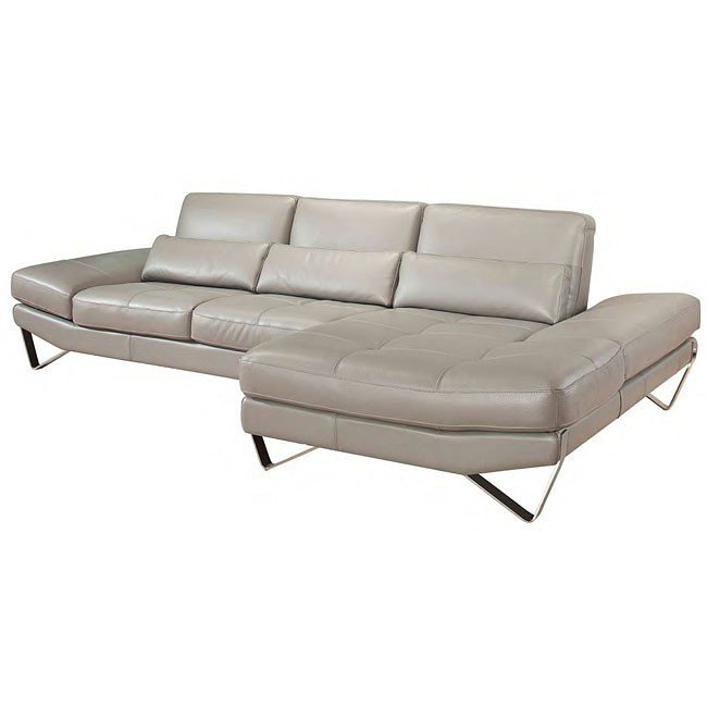 Nicoletti 833 Right Facing Leather Sectional