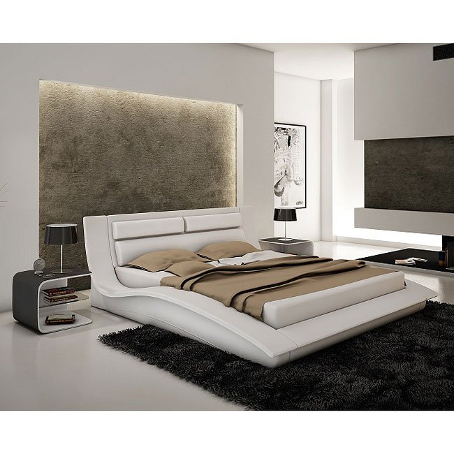 Wave Platform Bedroom Set White Jm Furniture Furniture