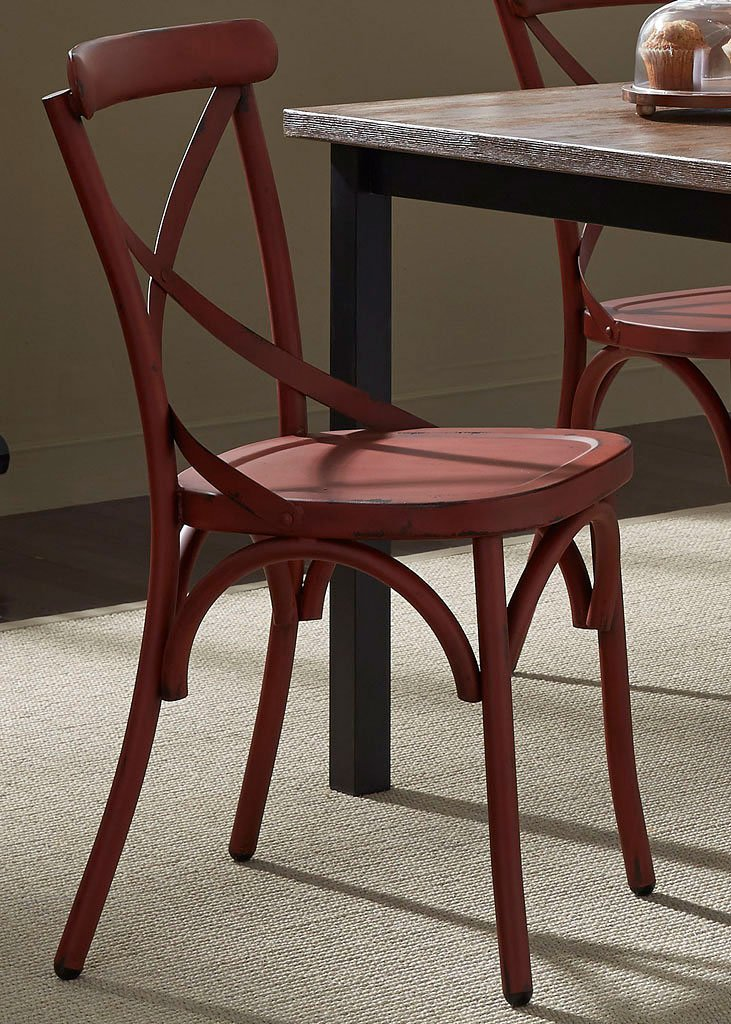 Vintage X Back Side Chair Red Set Of 2