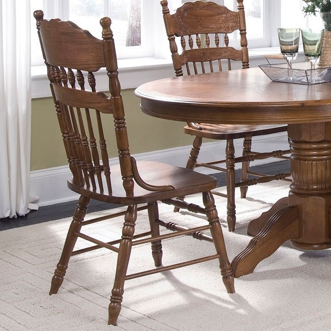 Old World Embossed Back Side Chair Set Of 2 Liberty Furniture Furniture Cart