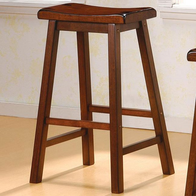 Geneva 29 inch Barstool (Set of 2) (Walnut)
