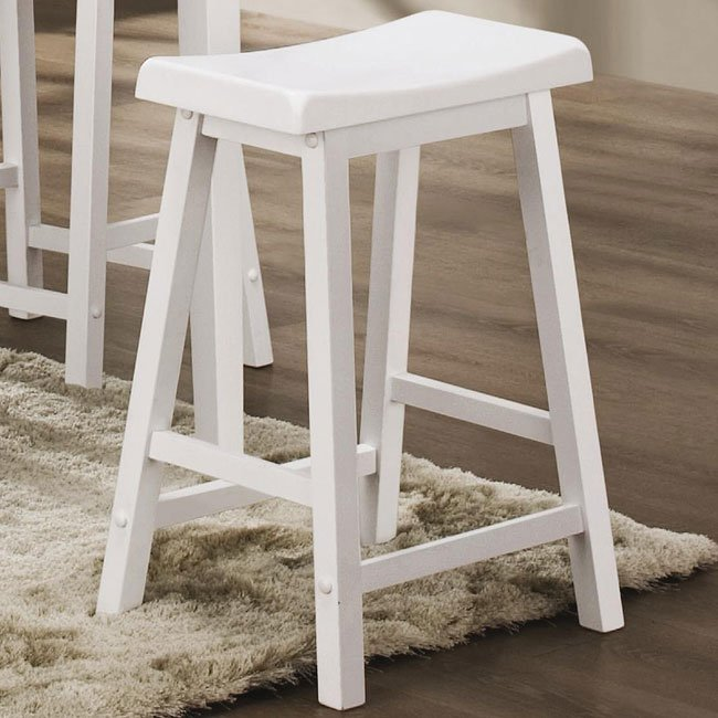 White 24 Inch Barstool Set Of 2