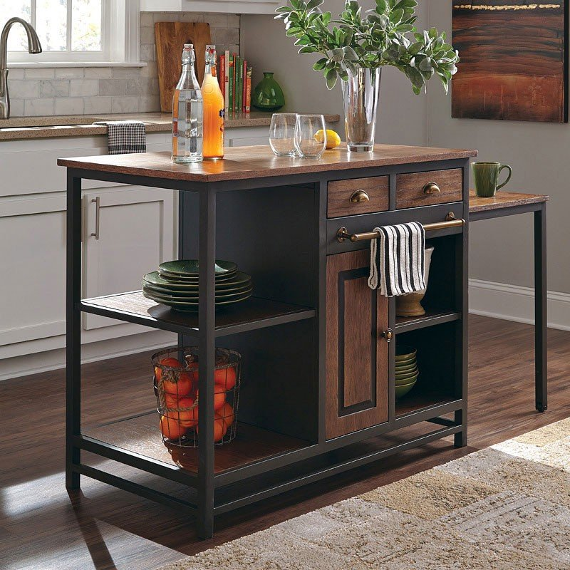 Industrial Kitchen Island