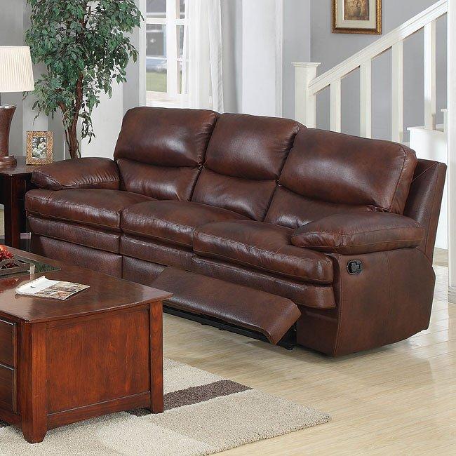 Baron Reclining Leather Sofa Leather Italia | Furniture Cart
