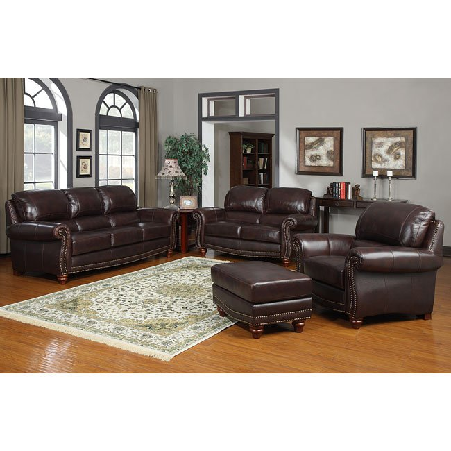 James Leather Living Room Set