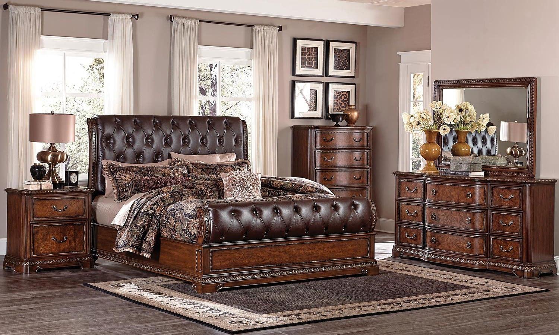 Brompton Lane Sleigh Bedroom Set Homelegance, 1 Reviews