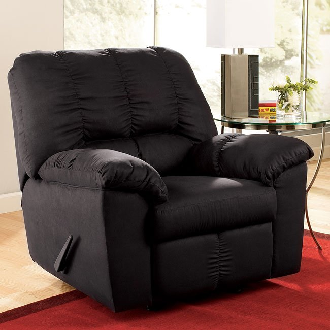 Sha-Shou - Black Rocker Recliner