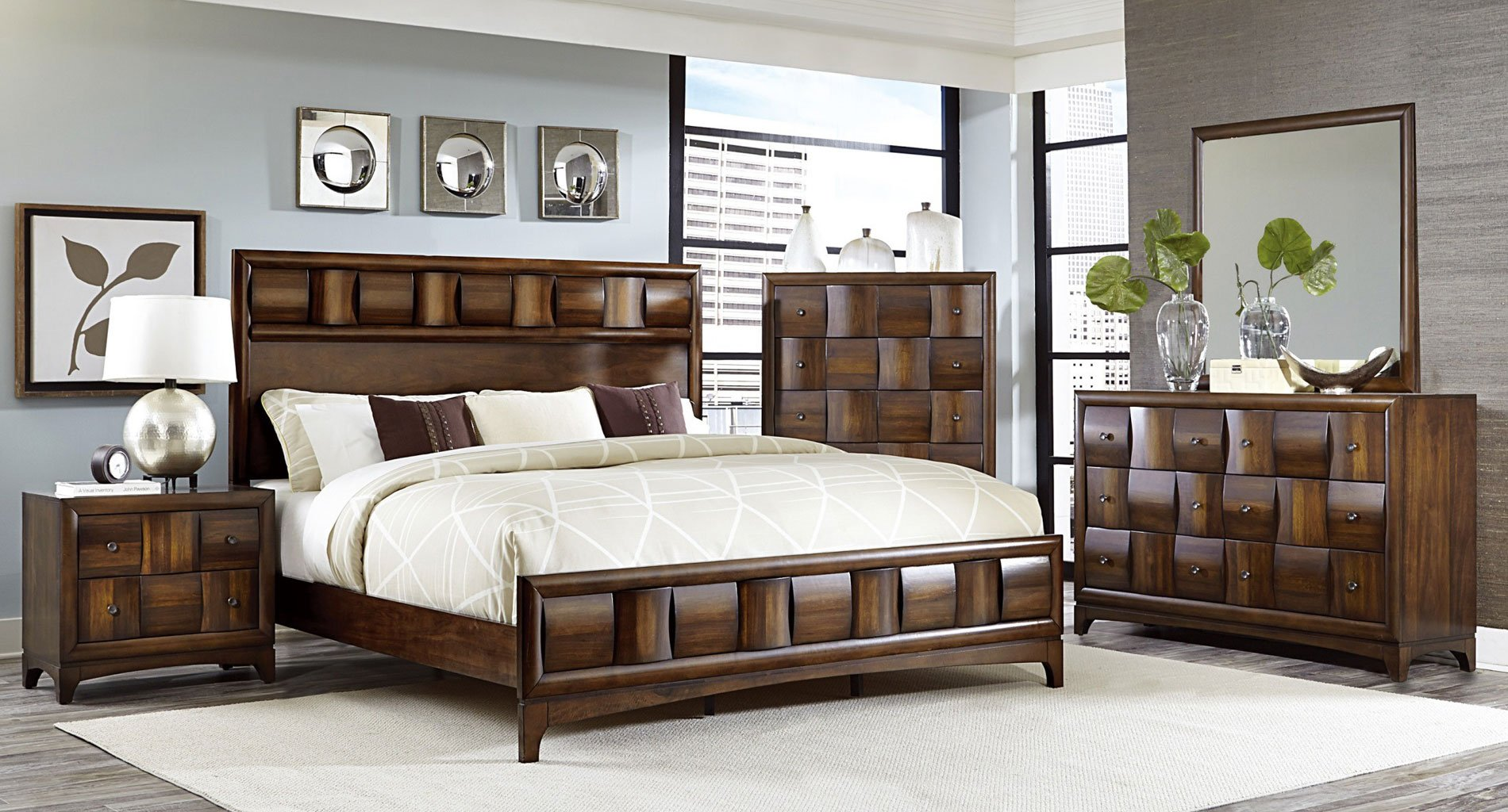 Porter Panel Bedroom Set Homelegance Furniture Cart