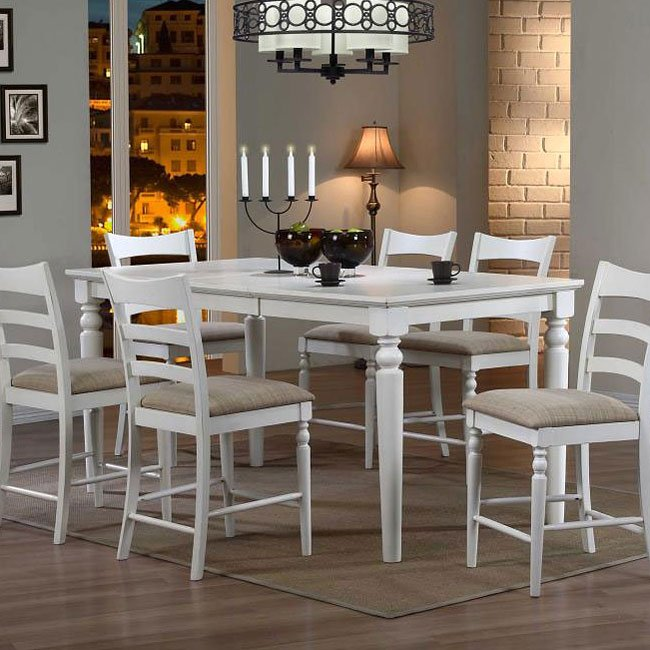 Charmant Stonebridge Counter Height Dining Table (Antique White). Chairs Sold  Separately