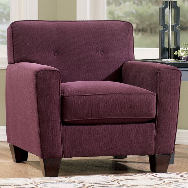 Danielle   Eggplant Chair By Signature Design